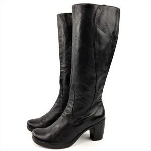Dansko Tall Leather Heel Boots 39 / 9  EN70